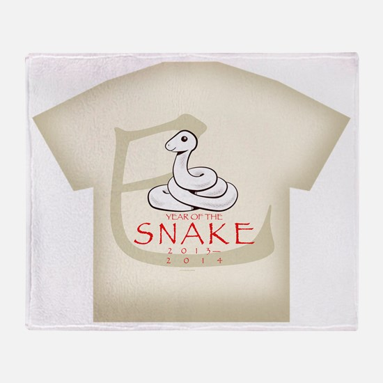 Hebidoshi Year of the Snake mens all Throw Blanket
