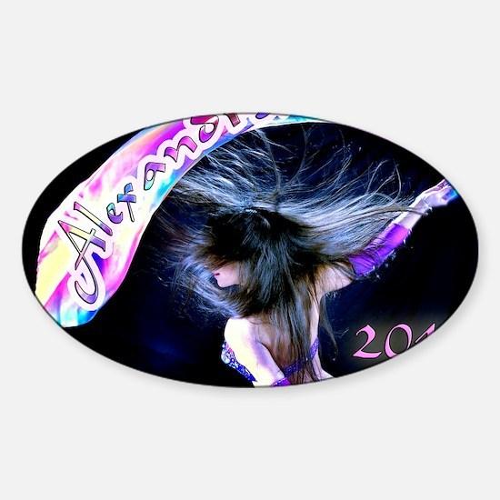 Rainbow Bellydance Sticker (Oval)