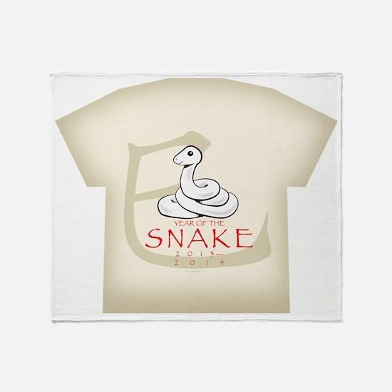 Hebidoshi Year of the Snake kids all Throw Blanket