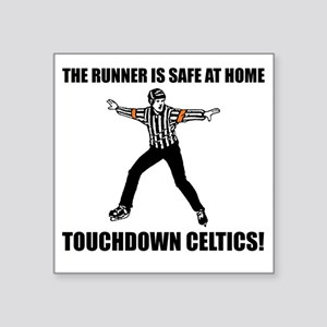 "Touchdown Celtics Square Sticker 3"" x 3"""