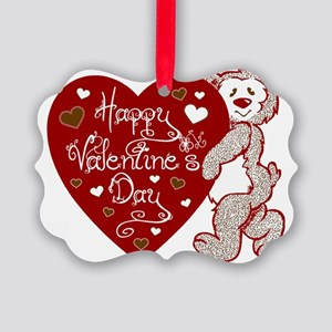Valentines Day Bear Picture Ornament