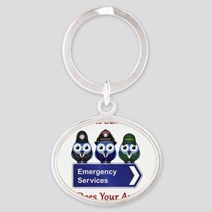 What Does Your Aunt Do? Oval Keychain