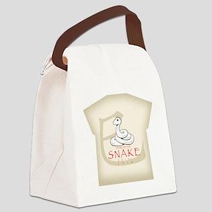 Hebidoshi Year of the Snake women Canvas Lunch Bag
