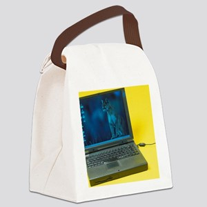 Laptop computer Canvas Lunch Bag