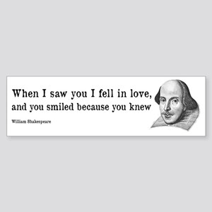 Shakespeare on Love (Hamlet) Sticker (Bumper)