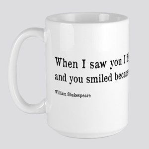 Shakespeare on Love (Hamlet) Large Mug