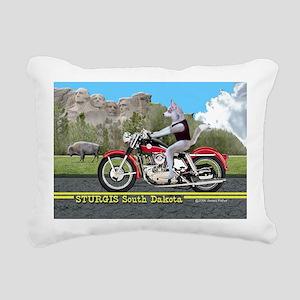 Siberian Husky Riding Ha Rectangular Canvas Pillow