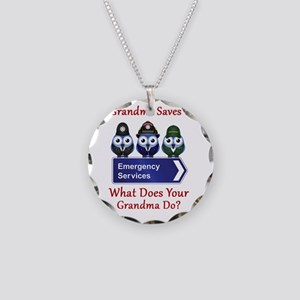 What Does Your Grandma Do? Necklace Circle Charm