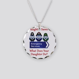 What Does Your Daughter Do? Necklace Circle Charm