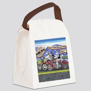 Siberian Husky Siberia Bike Week  Canvas Lunch Bag