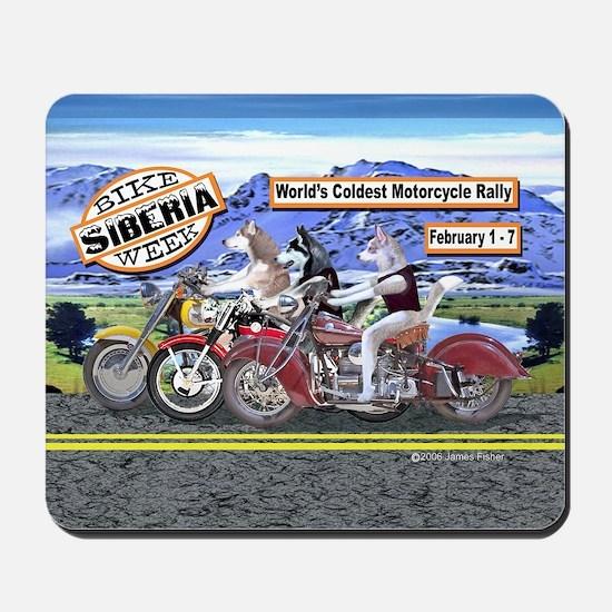 Siberian Husky Siberia Bike Week Magnet Mousepad