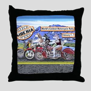 Siberian Husky Siberia Bike Week Magn Throw Pillow