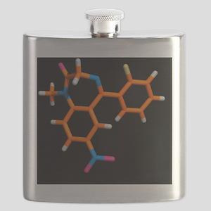 Rohypnol molecule Flask