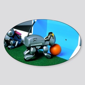 Legged Sony robot scores a goal at  Sticker (Oval)