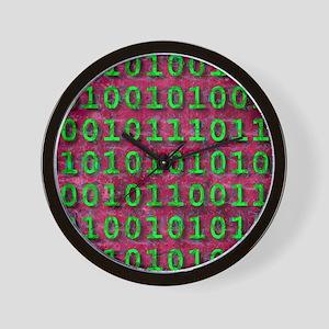 Ageing digital data, conceptual artwork Wall Clock