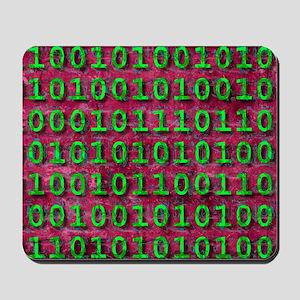 Ageing digital data, conceptual artwork Mousepad
