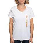 Stamp Bass Clarinet Women's V-Neck T-Shirt