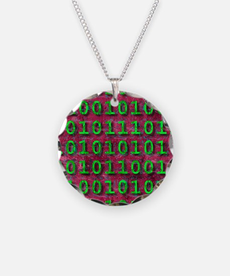 Ageing digital data, concept Necklace