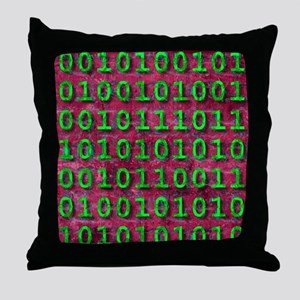 Ageing digital data, conceptual artwo Throw Pillow