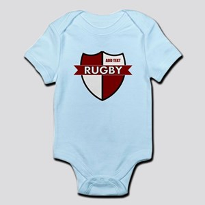 Rugby Shield White Maroon Infant Bodysuit