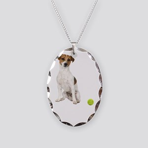 Jack Russell Terrier Life Necklace Oval Charm