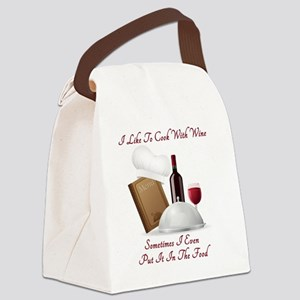 Cook With Wine (new) Canvas Lunch Bag