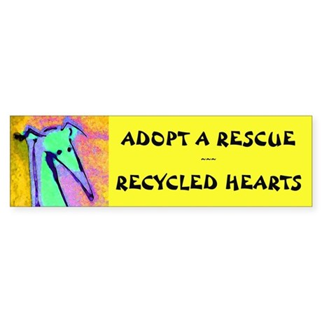 Recycled Hearts Bumper Sticker