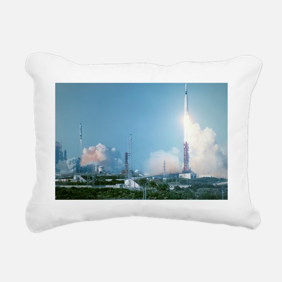 Atlas-Agena rocket launc Rectangular Canvas Pillow