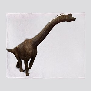 Brachiosaurus dinosaur, artwork Throw Blanket