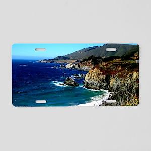 Big Sur on the Pacific Coas Aluminum License Plate