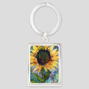 Sunflower Sunday Art Portrait Keychain