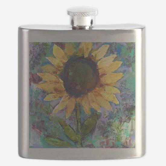 Sunflower Sunday Art Flask
