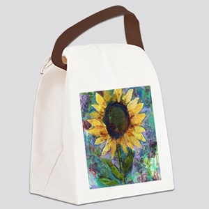 Sunflower Sunday Art Canvas Lunch Bag