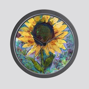 Sunflower Sunday Art Wall Clock