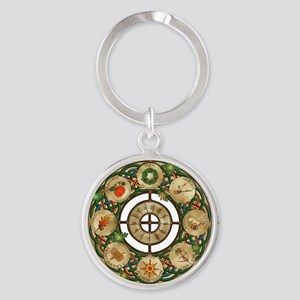 Celtic Wheel of the Year Keychains