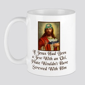 Jesus With UZI, Mug