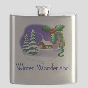 winter wonderland Christmas holiday tee  Flask