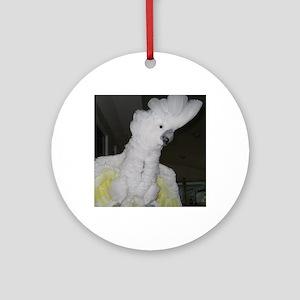Umbrella Cockatoo - Ruth Round Ornament