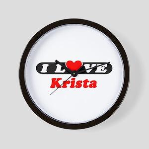I Love Krista Wall Clock