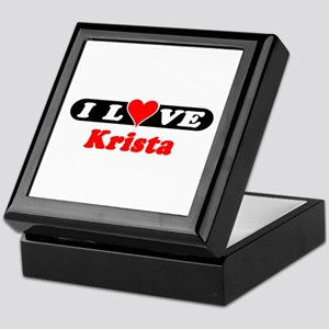 I Love Krista Keepsake Box