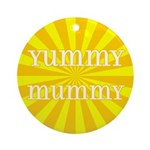 Yummy Mummy Ornament (Round)