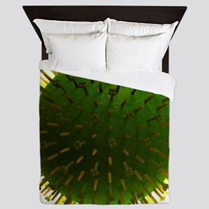 Flu virus, artwork Queen Duvet