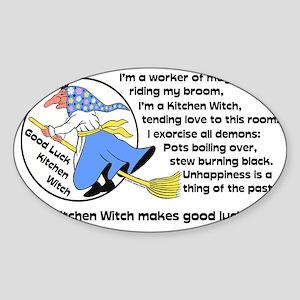 Norwegian Good Luck Kitchen Witch M Sticker (Oval)
