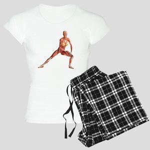 Female muscles, artwork Women's Light Pajamas