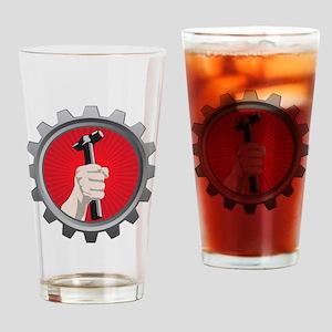 Try Really Hard Logo Drinking Glass