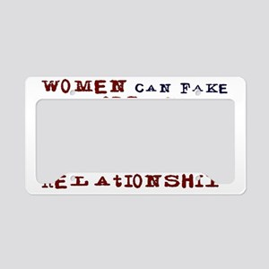 Women Can Fake License Plate Holder
