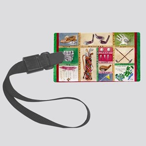 Golf Collage Large Luggage Tag