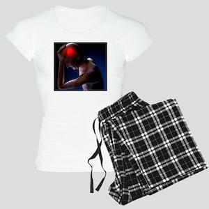 Headache, conceptual artwor Women's Light Pajamas