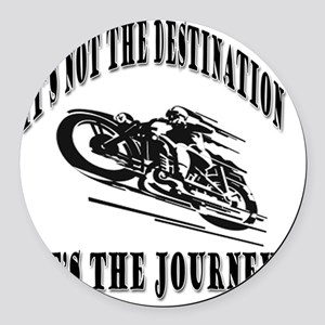 It's the Journey Round Car Magnet