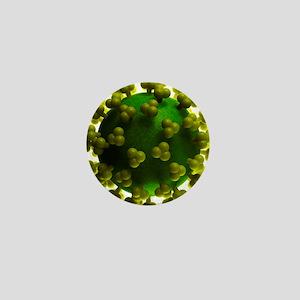 HIV particle, artwork Mini Button